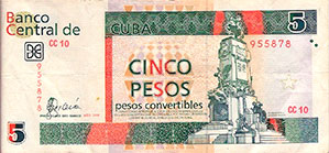 Photo of 5 Convertible Cuban Peso